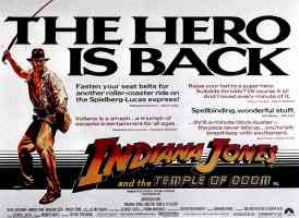 indiana jones and the temple of doom 3 action movie poster