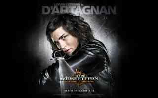 logan lerman is dartagnan in three musketeers action movie poster