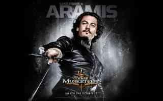 luke evans in three musketeers action movie poster