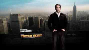 matthew broderick tower heist action movie poster