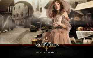 milla jovavich in three musketeers action movie poster