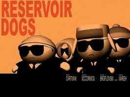 southpark reservoir dogs animated movie poster