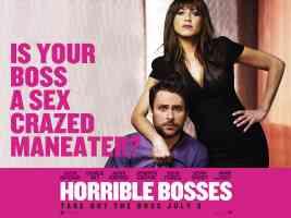 jennifer aniston in horrible bosses comedy movie poster