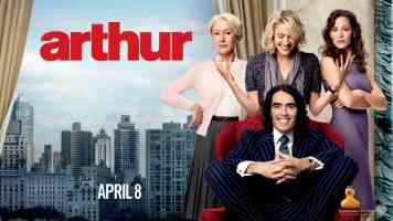 russell brand in arthur 2 comedy movie poster
