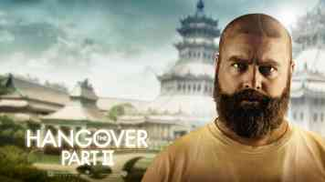 zach galifianakis in the hangover part ii comedy movie poster