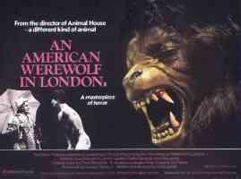 an american werewolf in london landscape horror movie poster