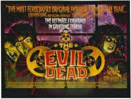 the evil dead landscape horror movie poster