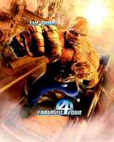 fantastic four thing superhero movie poster