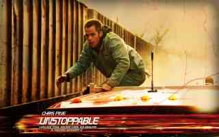 chris pine in unstoppable thriller movie poster