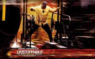 denzel washington in unstoppable thriller movie poster