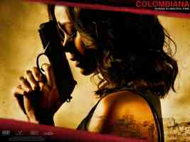 zoe saldana in colombiana thriller movie poster